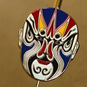 Beijing Opera metal gold-plated Chinese bookmark